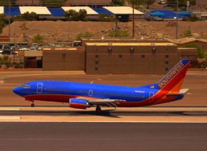 Phoenix Sky Train delivers you to the Landing of South West Airlines