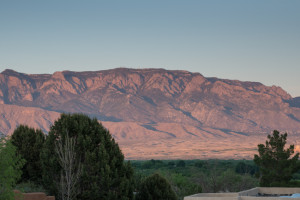 Sandia Mountains from Corrales, NM