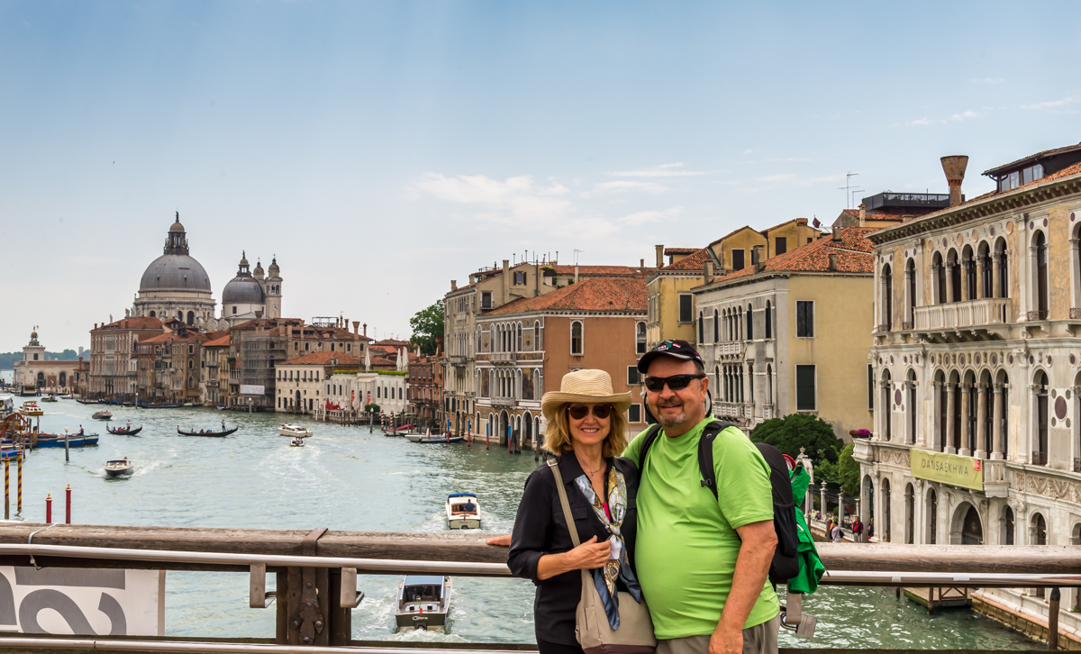 Ron and Shelli on bridge over Venice Canal